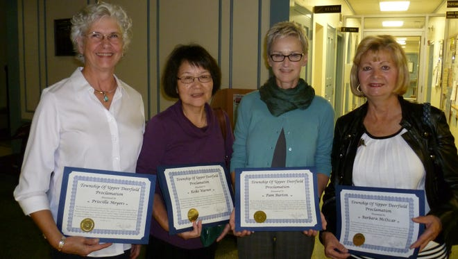 Members of the Rutgers Master Gardeners of Cumberland County were presented with a proclamation from Upper Deerfield.