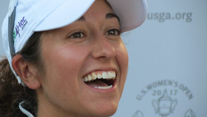 New Jersey native Marina Alex is vying for a spot on Team USA for next month's Solheim Cup.