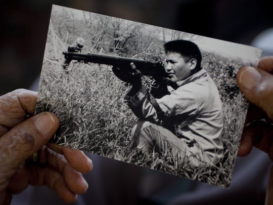 Chester Nez, one of the 29 original Navajo Code Talkers,