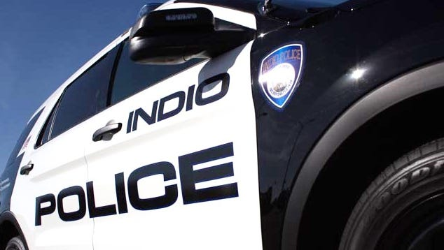 Indio police are searching for two men suspected in a robbery.