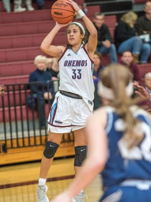 Okemos junior Laya Hartman hopes she is good enough to make the U17 USA basketball team