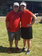 Holliday's Bailee Lawson (right) qualified for state a couple days after the Eagles' Conner Key.