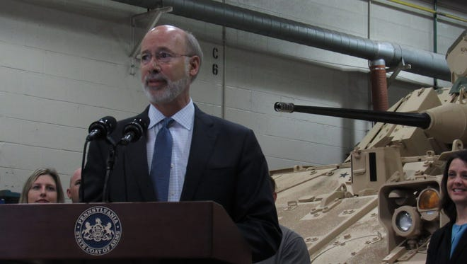Gov. Tom Wolf toured BAE Systems in West Manchester Township Monday to discuss the company's plans to add 530 jobs during a three-year expansion. (Photo by David Weissman/ The York Dispatch)
