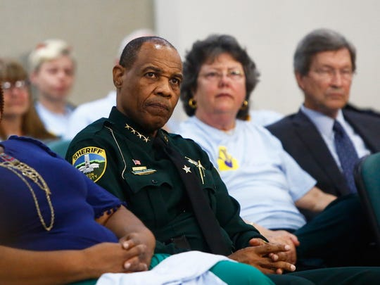 Leon County Sheriff Walt McNeil sits in on a hearing