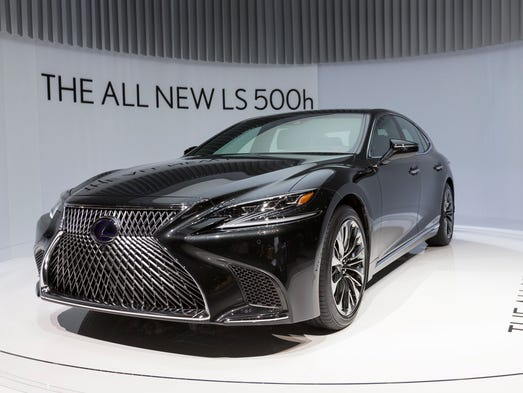 The New Lexus LS 500h car is on display at the 87th