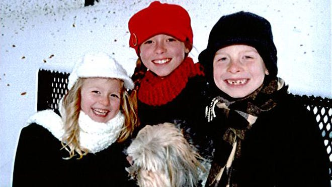The three Stoffel children were on the Trestle Trail bridge at athe time of Sunday's shooting. Olivia, center, was killed. At left is her sister Selah and on right is her brother Ezra. Both got off the bridge safely. Submitted photo.