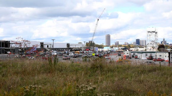 In this Oct. 17, 2015, file photo, construction work continues at the Riverbend high-tech manufacturing site in Buffalo, N.Y.