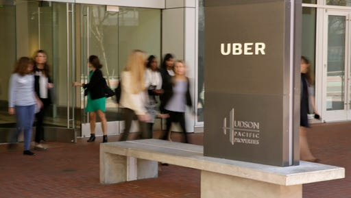 """This  Wednesday, March 1, 2017, photo shows an exterior view of the headquarters of Uber in San Francisco. Uber has been wielding a secret weapon to thwart authorities who have been trying to curtail or shut down its ride-hailing service in cities around the world.  The program included a feature nicknamed """"Greyball"""" internally that identified regulators who were posing as riders while trying to collect evidence that Uber's service was breaking local laws governing taxis. The New York Times revealed Greyball's existence in a story published Friday, March 3, 2017, based on information provided by four current and former Uber employees."""