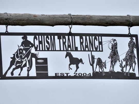 Chism Trail Ranch sign