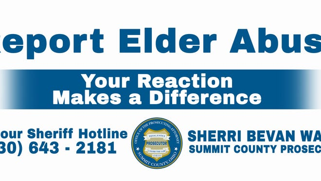 The Summit County Prosecutor's Office will have billboards around the county urging people to report abuse to seniors as part of Senior Safety Awareness Month, which is in September.