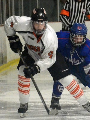 Jay Keranen (4) scored twice for Brighton in a 2-2 tie with Canton on Monday night.