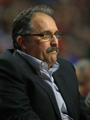Pistons coach Stan Van Gundy during his team's 117-95 loss to the Bulls at the United Center on March 22, 2017 in Chicago.