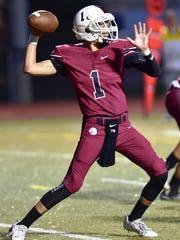 Milford junior quarterback Aiden Warzecha was 12-of-18