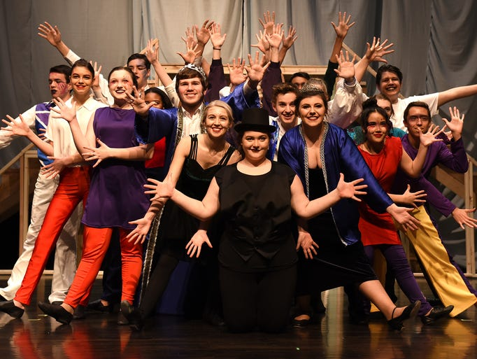 The cast of Northville High's production of Pippin