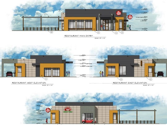 Backyard Taco owners have submitted plans for a 3,200-square-foot restaurant, 2,000-square-foot patio and drive-thru in Gilbert's Agritopia neighborhood.