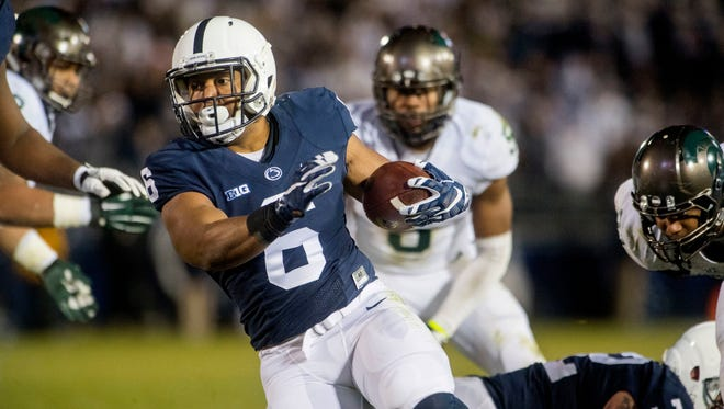 Former Penn State running back Andre Robinson reportedly has landed with the Delaware Blue Hens. Robinson is a former standout at Bishop McDevitt High School in Harrisburg. AP FILE PHOTO