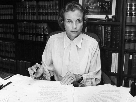 Sandra Day O'Connor made her mark as the first woman to sit on the U.S. Supreme Court.