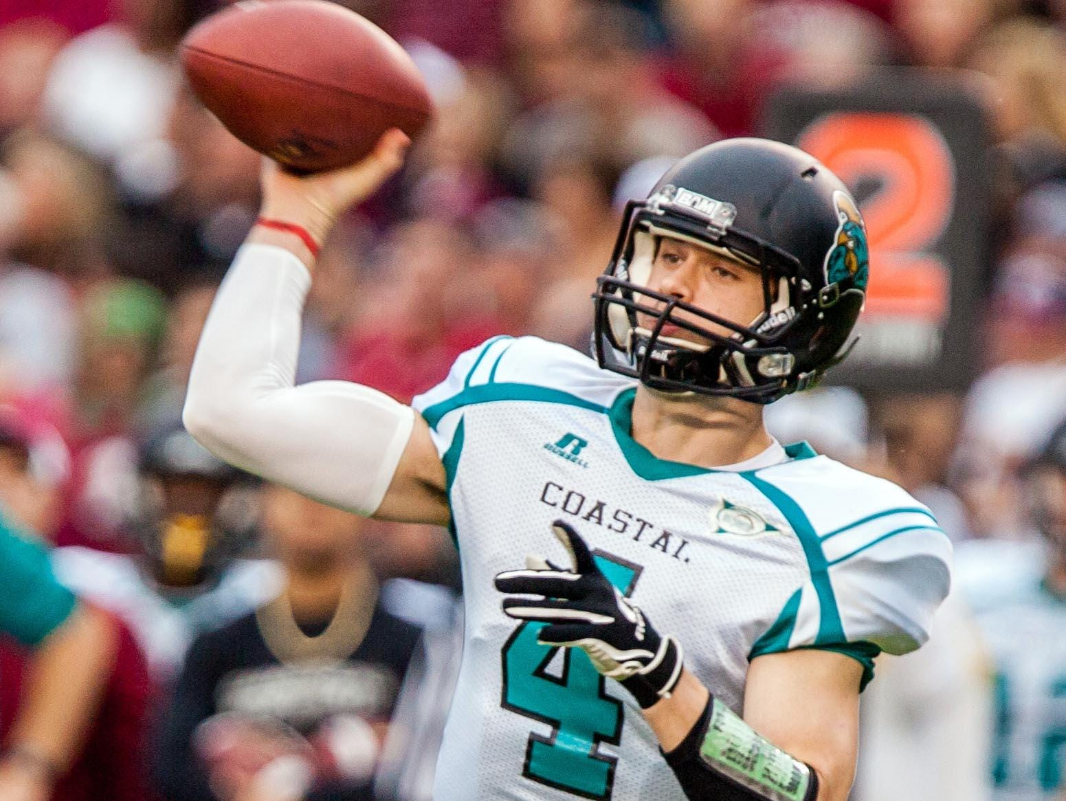 Quarterback Alex Ross helped Coastal Carolina to its second consecutive FCS playoff appearance in 2014.