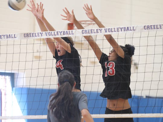 Horace Greeley High School hosts a Five-team volleyball scrimmage in Chappaqua on Wednesday, August 23, 2017.