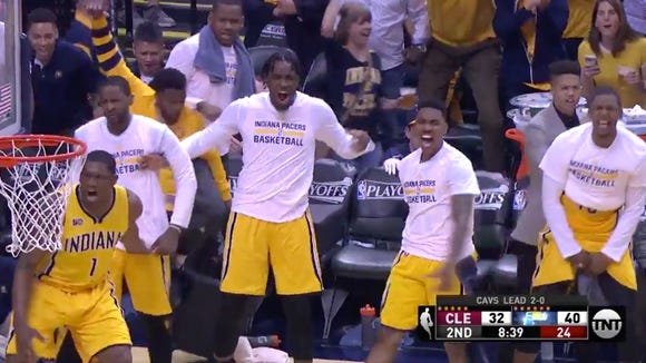 Myles Turner destroyed Tristan Thompson with a jaw-dropping poster dunk