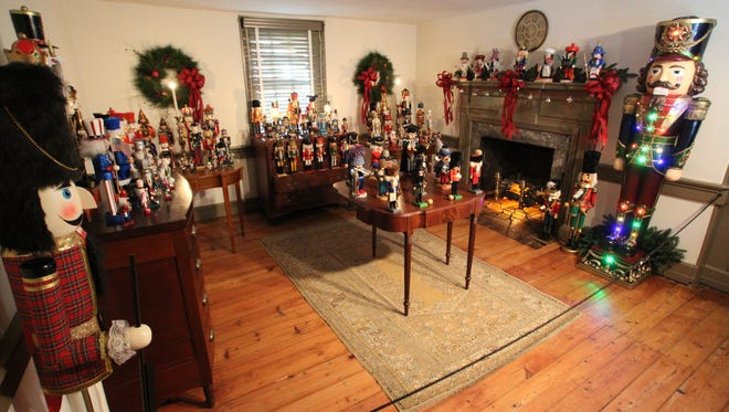 One of the several rooms at the historic Wilson-Warner House in Odessa where 160 nutcrackers from around the world are on display.