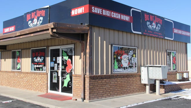 Big Hit Vapors at 987 N. Main St. in Cedar City has been forced to reduce the amount of vape products sold due to a new city ordinance.