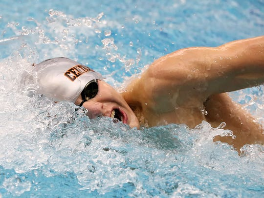 Central York's Alec Peckmann, finished seventh in the