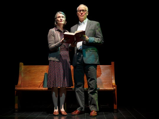 "Annette O'Toole and Reed Birney in ""Man from Nebraska."""