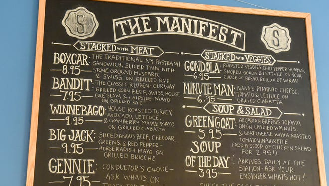 The Manifest offers itself as a menu for those visiting Stacks Foods and Catering, a deli restaurant and catering service in the American Hotel alongside the train station in Staunton.