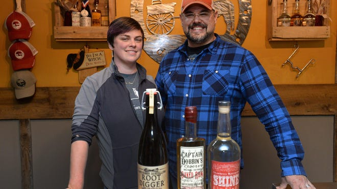 Jessica Lemmon and her husband John Fetzner, co-owners of Cart/Horse Distilling in Washington Township, plan to offer cocktails to go.