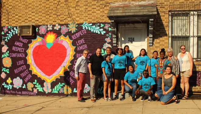 Robert Wood Johnson University Hospital's Domestic Violence Prevention Program unveiling of the second Healthy Relationships/Dating Violence Prevention Community Mural at David's Florist, 224 Hamilton Street, in New Brunswick on July 2 at 5 p.m.