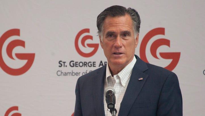 Utah Senate Candidate Mitt Romney meet with members