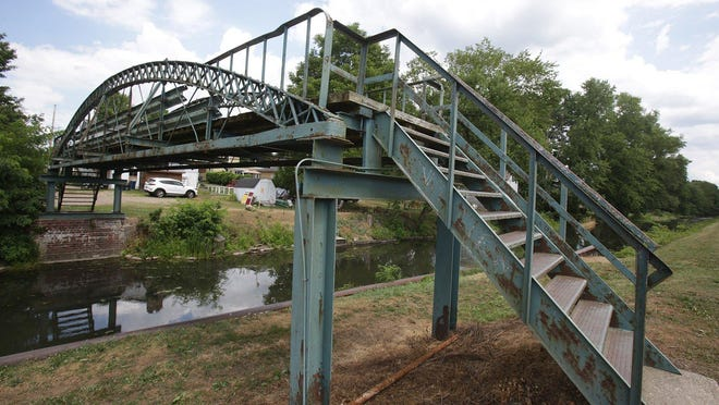 The bowstring pony truss footbridge that spans the Ohio & Erie Canal in St. Helena Heritage Park in Canal Fulton will be getting a facelift after the city was awarded $45,000 in grant funds from the Ohio & Erie Canalway Association.