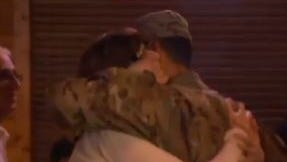 Jorge Blanco surprised his family by returning from Afghanistan for Thanksgiving.