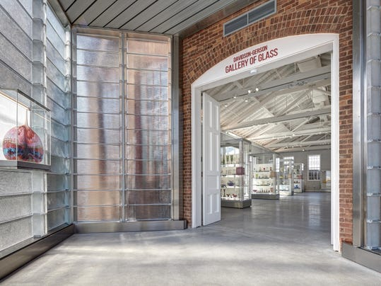 Entrance to Davidson Gerson Gallery of Glass inside Greenfield Village_James