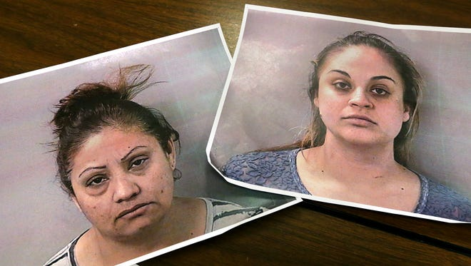 Rosalinda Vallejo, left and Elizabeth Castillo, right were arrested when they were found in possession of 5 kilograms of heroin.
