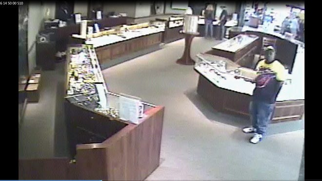 Jackson police are searching for a man suspected of stealing $7,300 in jewelry.