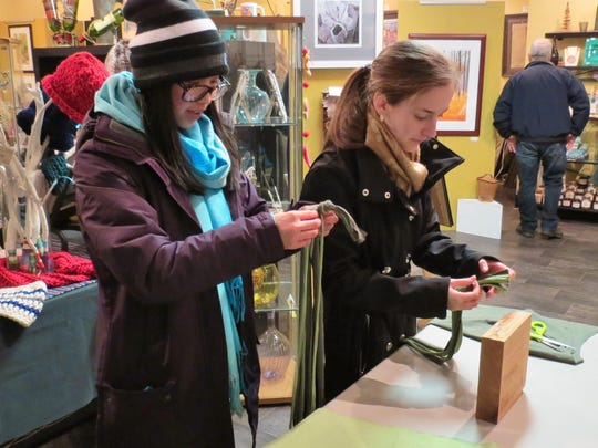 The brisk January weather couldn't keep the ladies from coming out to enjoy an evening during Downtown Hammonton's Third Thursday event on Jan. 21.
