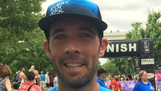 Alan Horton from Knoxville won the Music City Triathlon for the second consecutive year on Saturday.