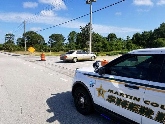 Bicyclist hit in Martin County