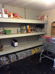 A food pantry at Freedom's Rest, a domestic abuse shelter