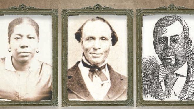 LEFT: Jane Elizabeth Manning James was among the pioneers of The Church of Jesus Christ of Latter-day Saints to enter the Salt Lake Valley in 1847. CENTER: Elijah Abel became the first black man ordained to the priesthood of The Church of Jesus Christ of Latter-day Saints in 1836. RIGHT: Green Flake joined The Church of Jesus Christ of Latter-day Saints as a slave and was later given to the church as his master's tithing payment.