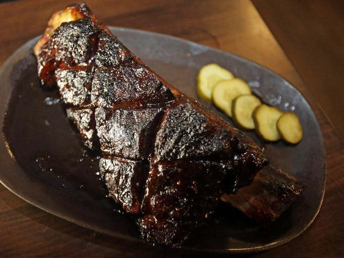 Beef Short ribs is served at Fink's BBQ and Cheesesteak Roadhouse in Suffern, N.Y.
