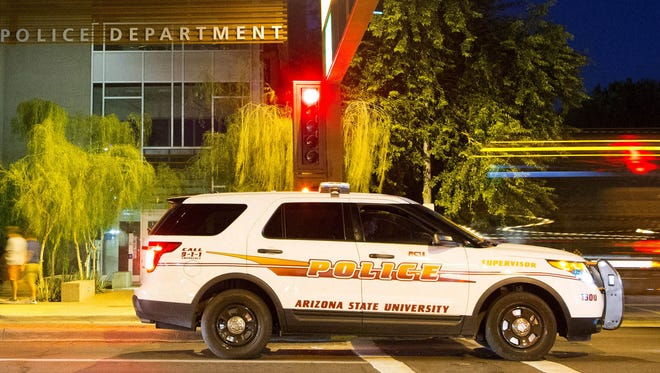 Police are looking for a young man who they say exposed himself to two ASU students at Tooker House dorm on Saturday.