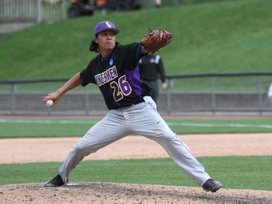 Cal Lutheran closer Miguel Salud pitched three innings to earn the save in the final game of the best-of-three Division III College World Series national championship