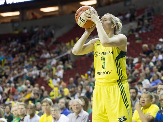 After a busy offseason, Buena High graduate Sami Whitcomb is back playing for WNBA champion Seattle.