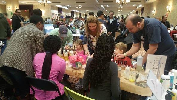Zandra's DIY sugar scrub booth allowed children to