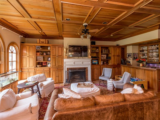 The spacious family room is great for entertaining