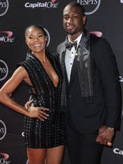 Gabrielle Union and THE Miami Heat's Dwyane Wade in July 2013 in Los Angeles.