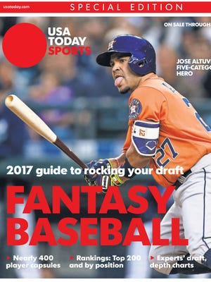 Houston Astros second baseman Jose Altuve hit .338 with 24 home runs and 30 steals last season. He's No. 3 in our Top 200 fantasy rankings.